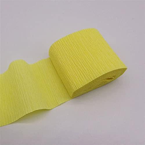 YOTONG Rollo de papel crepé de color de 250 x 5 cm, origami arrugado crepé de papel artesanal, decoración de flores de bricolaje