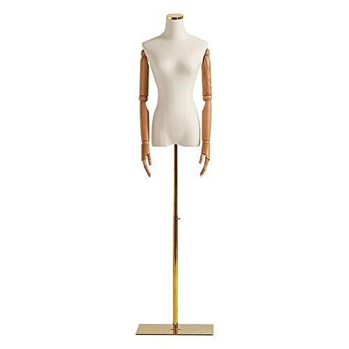 LPYMX Schneiderbüste Näherin Schneider Torso Mannequin Büste Modeschau Modell Brautkleid-Designer-Kleidung, Metallkappe Modell