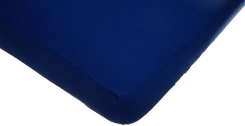 American Baby Company Supreme 100% Natural Cotton Jersey Knit Fitted Crib Sheet for Standard Crib and Toddler Mattresses, Royal, Soft Breathable, for Boys