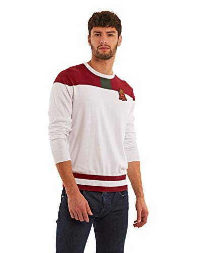 La Martina Herren Palatino Sweatshirt, Weiß (Optic White 00001), Small
