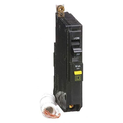 QOB120GFI SQUARE D Circuit Breaker Miniature Circuit Breaker (QOB-GFI) Ground Fault Protecting (Class A 6mA), 20A BOLT-IN