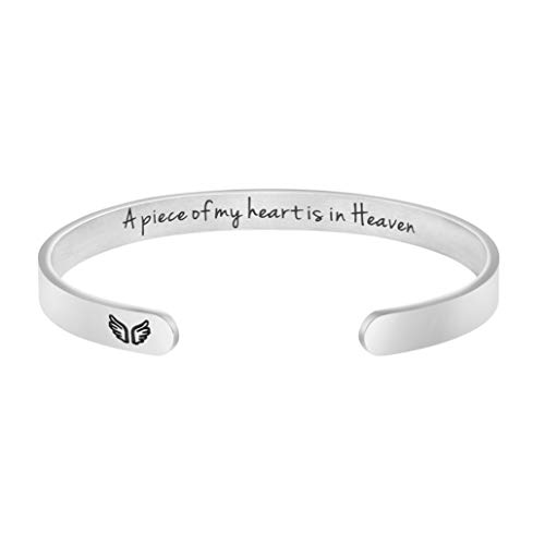 Memorial Bracelet Sympathy Gift for Her Miscarriage Jewelry Loss of Loved One A Piece of My Heart Lives in Heaven