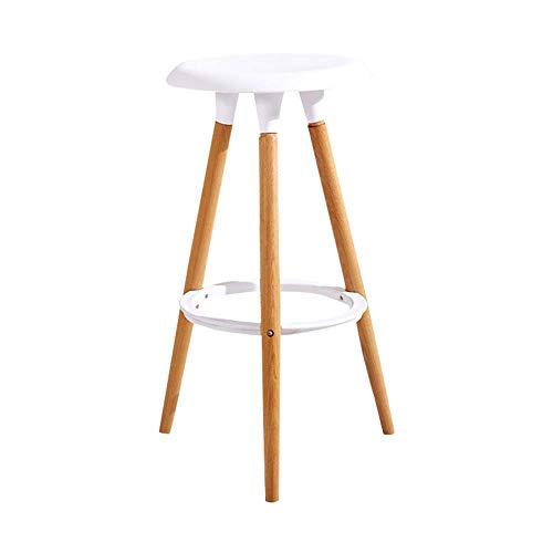 Gymqian Silla de bar de madera maciza para el hogar Taburete de bar Minimalista moderno Moda nórdic