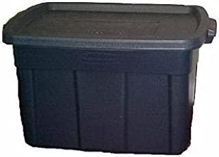 Rubbermaid 2245-CP-DIM Rough Neck Tote, 25-Gallon, Dark Indigo Metallic