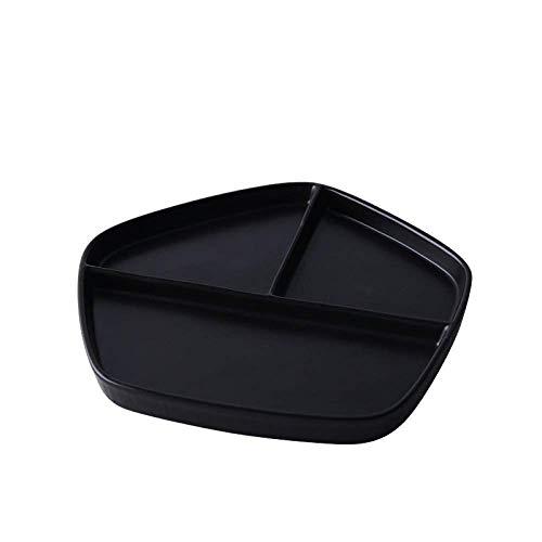 zvcv Plato de Desayuno de Rejilla de cerámica de Estilo japonés GYHJG Plato de arroz casero Plato de Carne Occidental Plato de Fruta de Postre Simple 21,5 20 2Cm
