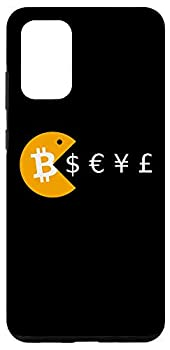 Galaxy S20+ Bitcoin BTC Pac Eating US Dollar Euro Yen Pound Funny Man Case