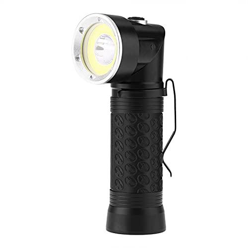 Linterna LED, portátil T6 + COB LED Linterna de inspección LED de cola magnética plegable para acampar al aire libre Pesca Senderismo