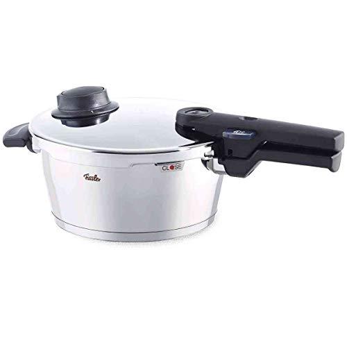 Fissler vitavit comfort / Olla a presión (4,5 litros, Ø 22 cm) de acero inoxidable, 2 niveles de cocción, apta para...