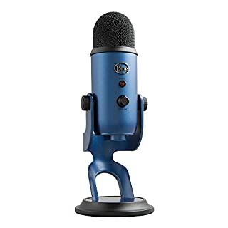 Blue Yeti USB Mic for Recording & Streaming on PC and Mac, 3 Condenser Capsules, 4 Pickup Patterns, Headphone Output and Volume Control, Mic Gain Control, Adjustable Stand, Plug & Play - Midnight Blue (B01LY6Z2M6)   Amazon price tracker / tracking, Amazon price history charts, Amazon price watches, Amazon price drop alerts