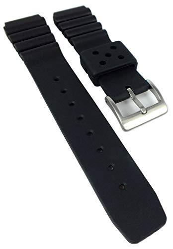 Army Watch Uhrenarmband 20mm PU - Band schwarz EP821 EP853 EP854