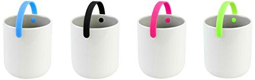 COOKUT PRSET07 Set 4 Tasses thé - Multicolor, Porcelaine/Silicone