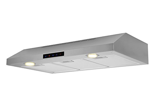 Kitchen Bath Collection WUC90-LED Stainless Steel Under-Cabinet Range Hood, 36'