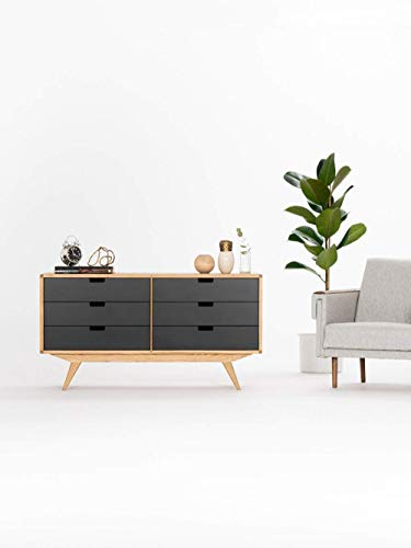 Chest of drawers, Sideboard, Credenza mit sechs Schubladen