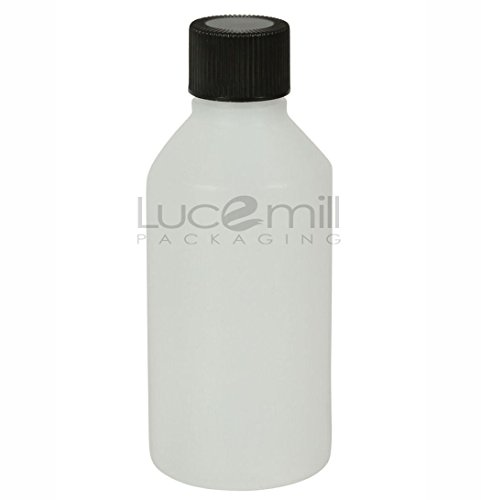 3 x 100mL natuurlijke HDPE plastic flessen w/zwart waterdichte schroef CAPS