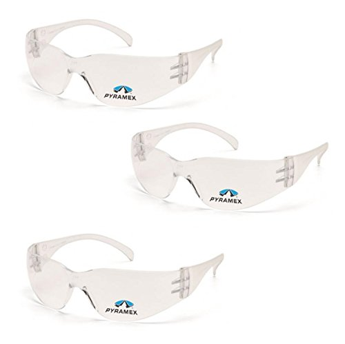 Pyramex Safety Intruder Reader Bifocals Clear Frame with Clear Lens (3 Pair) (Clear + 2.0 Lens)
