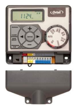 Orbit 94884 Pocket Star 'Ultra' - Temporizador para rociadores Interiores de fácil Acceso con 4 Estaciones