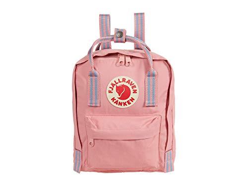 FJALLRAVEN Kånken Mini Mochila, Adultos Unisex, Pink-Long Stripes (Rosa), 7 l