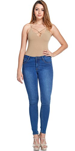 Women's Super Comfy Basic Low Rise Skinny Jeans with Comfort Stretch 3