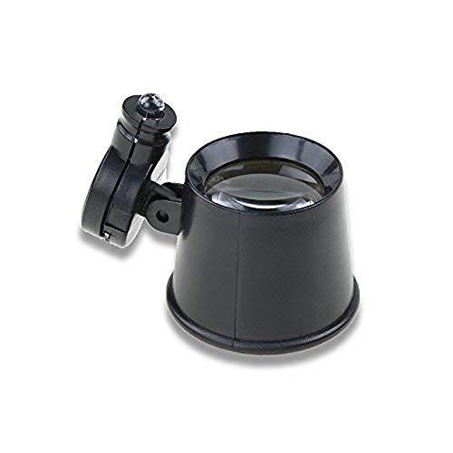 Vergrootglas HJCA Oogmasker Vergrootglas - Geschikt voor het lezen Reparatie Horlogemaker Circuit Reparatie Versterker 10X Optioneel (Kleur: Zwart) Multifunctionele Persoonlijke Vergrootglas