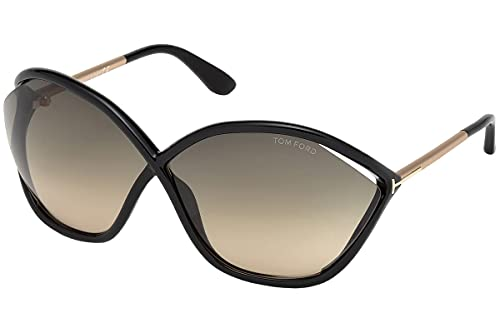 Tom Ford FT0529 01B Black FT0529 Round Sunglasses Lens Category 2 Size 71mm