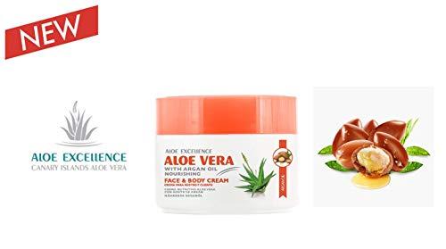 Aloe Vera und Arganöl Creme | Kanarische Inseln Aloe Vera | Tief hydriert Haut | 300ml
