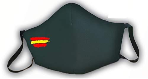 Macarilla verde protectora homologada 3 capas bandera de España