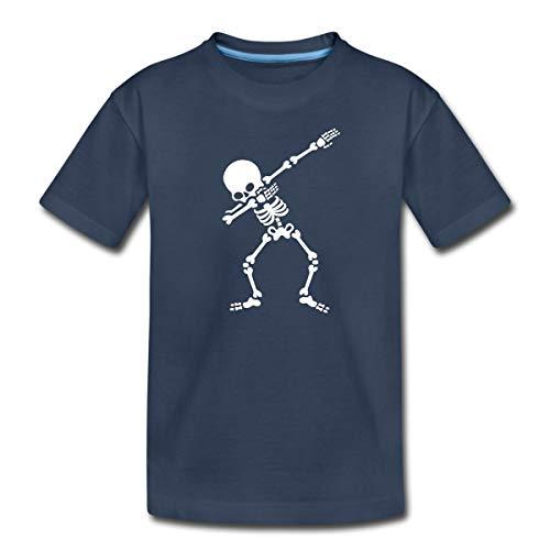 Dab Skelett Dabbing Gerippe Halloween Teenager Premium T-Shirt, 158/164 (12 Jahre), Navy