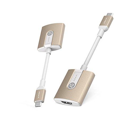Adam Elements CASA H01 - USB-C auf HDMI Adapter unterstützt Full HD 1080P, 2K und Ultra HD 4k für MacBook, MacBook Pro und weitere | 13 cm in gold