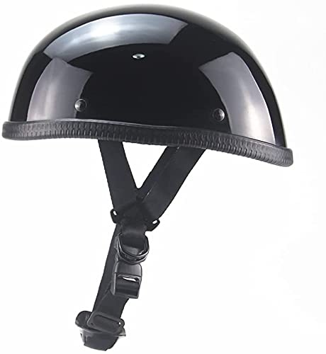 Motorcycle Half Helmet DOT Approved Men and Women Ultra-Thin Comfortable Beanie Cruising Skull Cap Novelty Small Helmet for Chopper Moped Scooter Motorbike Electric(54~63cm)