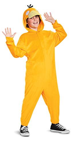 Disguise Pokemon Psyduck Kids Costume, Children's Deluxe Character Outfit, Child Size Large (10-12) Yellow