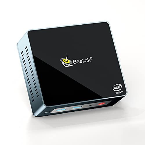Beelink Mini PC GK Mini Windows 10 Pro, Intel J4125 8GB DDR4 RAM 256GB SSD 4K Dual HDMI, Support HDD Extension,Auto Power On