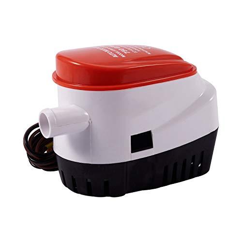 Cobeky Bomba de sentina automática de 12 V 750 Gph con interruptor de flotación interno, bomba automática sumergible para barco de agua con interruptor de flotador, para marina, tanque de cebo, peces
