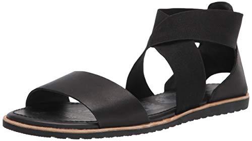 Sorel Womens Ella Sandal Cut Out Holiday Open Toe Fashion Beach Sandals - Black - 8