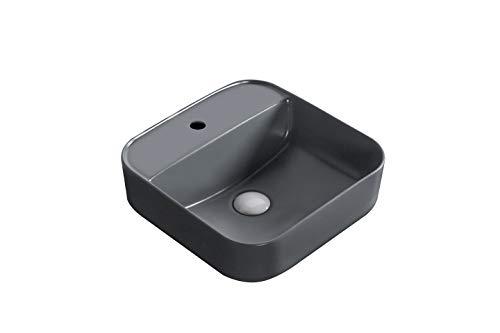Waschbecken Design Aufsatzwaschbecken Waschschale Waschtisch Grau Anthrazit 390 * 390 * 140 mm (0083B) von Art-of-Baan®