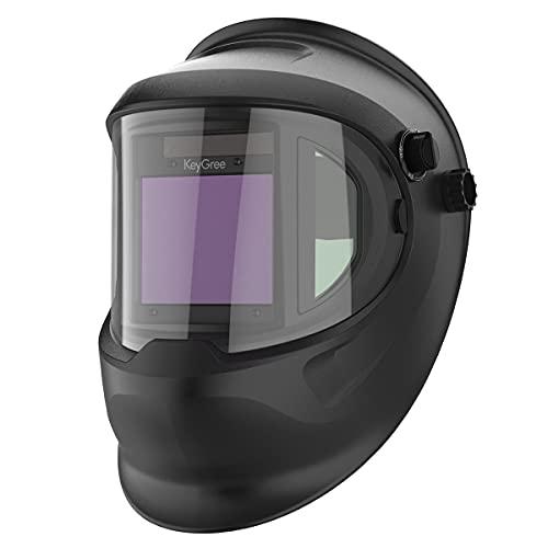 YGLONG Soldadores MáScara Gafas de Filtro de luz de oscurecimiento automático Hood Soldador Máscara de Soldadura Casco Casco Casco Careta Soldar Automatica (Color : 1)