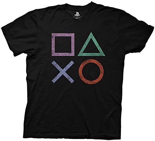 Ripple Junction Playstation Vintage Icon Adult T-Shirt XL Black