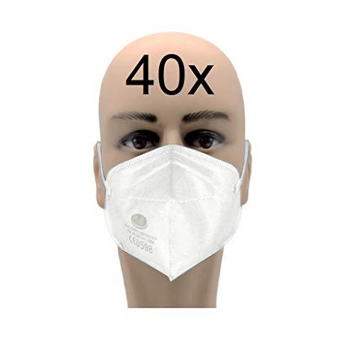 40x FFP2 Maske CE 0598 zertifiziert Atemschutzmaske schneller Versand aus Deutschland weiß