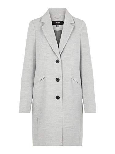 VERO MODA Damen VMCALA Cindy AW19 3/4 Jacket BOOS Mantel, Grau (Light Grey Melange Light Grey Melange), X-Small (Herstellergröße: XS)