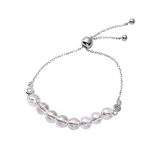 LQHXY Symphony Crystal Ball Pulsera S925 Plata Esterlina Hecha A Mano Original Perlas De Cristal Pulsera De Mujer