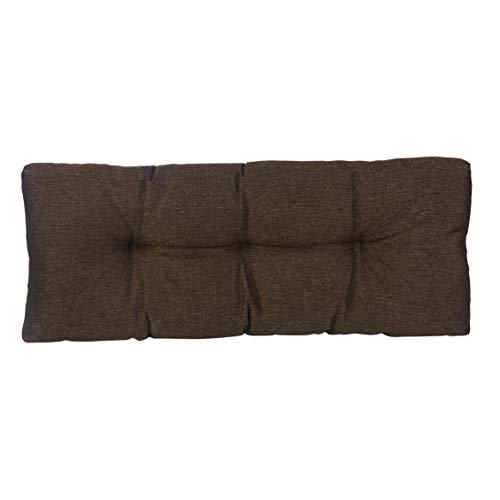 Klear Vu The Gripper Non-Slip Tufted Omega Universal Bench Cushion, Chestnut, 36