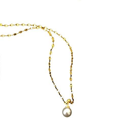 SSN Francés Retro Bubble Bubble Pearl Collar Elegante Niche Colgante Cadena Desmontable Cadena De Clavícula