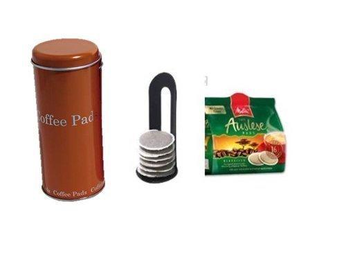 Melitta Harmonie KaffeePads NaturMild für Senseo +Padheber und Paddose orange