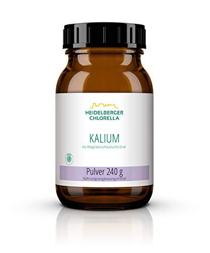 Heidelberger Chlorella – Kalium als Magnesiumkaliumcitrat Pulver, vegan, organische Form als Kaliumcitrat, gute Bioverfügbarkeit, hergestellt in Deutschland, 240 g