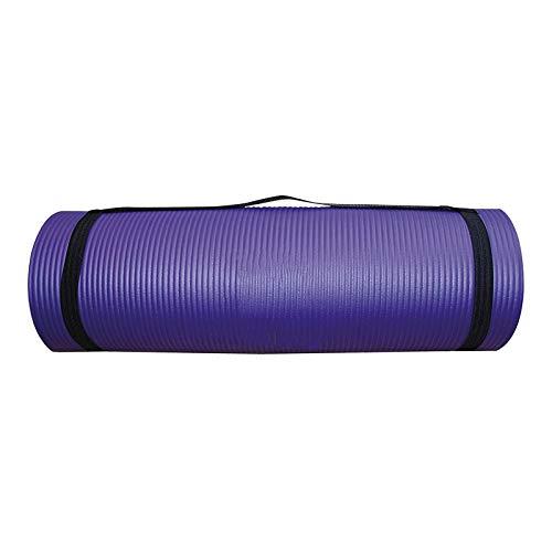 Esterilla de entrenamiento, esterilla de yoga, esterilla de yoga antideslizante y respetuosa con las articulaciones, para yoga, pilates, gimnasia, con correa de transporte, 183 cm x 60 cm