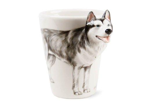 Siberian Husky Geschenke, Kaffeetasse Handgefertigt von Blue Witch