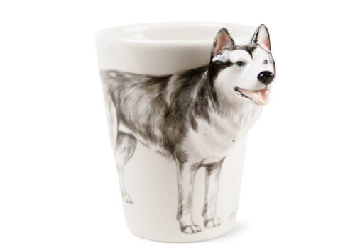 Un Regalo de Husky Siberiano, Taza de Café Hecho a Mano por Blue Witch