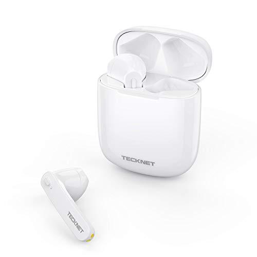TECKNET TWS Kopfhörer Bluetooth 5,0, Bluetooth Kabellos Earbuds In Ear Ohrhörer Noise Cancelling True Wireless Headset mit Portable Ladecase, 40H Spielzeit, Hi-Fi Stereo Sound und Mikrofon