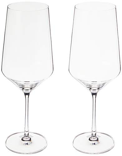 Schott Zwiesel Tritan Crystal Stemware Pure Collection Bordeaux Red Wine Glass, 23-Ounce, Set of 2, Clear