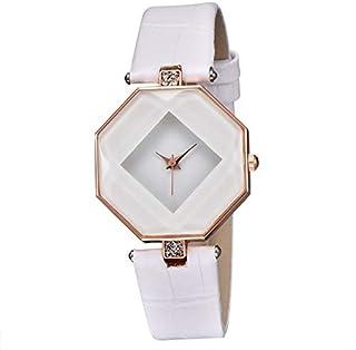 Xieifuxixxxnnssb women's watches Clock Women Dress Watches Gem Geometry Crystal Leather Quartz Wristwatch Ladies Rhineston...