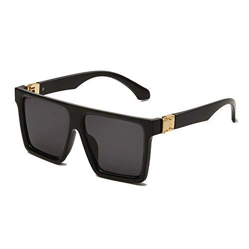 Gafas De Sol Hombre Mujeres Ciclismo Gafas De Sol Cuadradas De Moda Populares para Mujer Gafas De Espejo con Degradado Gafas De Sol para Hombre-Black_Gray